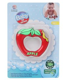 Ratnas Apple Shape Water Filled Teether - Red