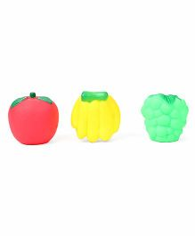 Ratnas Squeaky Bath Toys Fruits Pack Of 3 - Red Yellow Green
