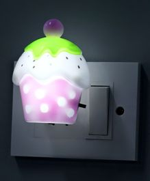 Ice Cream Shape LED Night Lamp - Light Pink