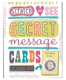 Scratch And See Secret Message Cards Book - English