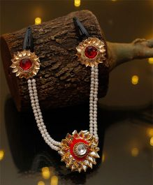 D'Chica The Chain Head Jewelry For Traditional Wear - Red