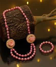 D'Chica Stylish Traditional Wear Jewelry - Peach