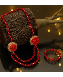 D'Chica Stylishly Chic Jewelry Set - Red