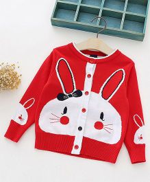 Awabox Bunny Design Sweater - Red