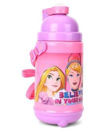 Disney Princess Push Button Sipper Bottle With Strap Pink - 500 ml