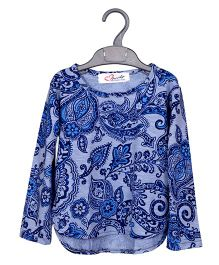 M'andy Blue Saphire Full Sleeves T-Shirt - Blue