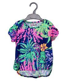 M'andy Bohemian Half Sleeves T-Shirt - Multicolor