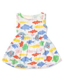 The Lion And The Fish Fish Printed Fit & Flare Dress - Multicolor