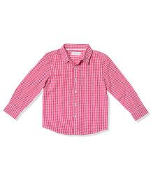 The Lion And The Fish Gingham Checks Shirt - Red