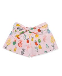 The Lion And The Fish Pineapple Print Shorts - Multicolor
