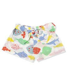 The Lion And The Fish Print Shorts - Multicolor
