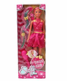 Steffi Love Fashion Hair Doll Pink - Height 29 cm