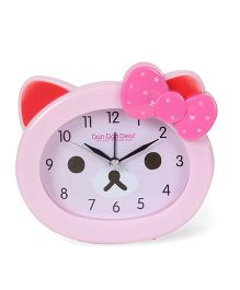 Kitty Face Shaped Clock - Pink