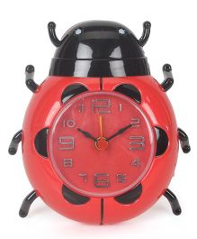 Lady Bug Shaped Alarm Clock - Red