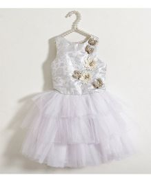 Fairies Forever Netted Layer Party Dress With Embellishment - White