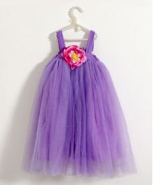 Fairies Forever Tutu Dress With Floral Applique - Purple