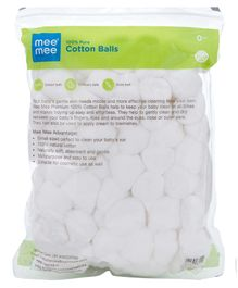 Mee Mee 100 % Pure Cotton Balls - 100 gm