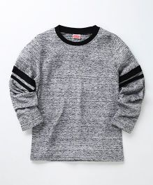 Babyhug Full Sleeves T-Shirt - Grey & Black