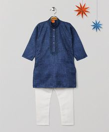 Babyhug Full Sleeves Kurta Pajama Set - Royal Blue