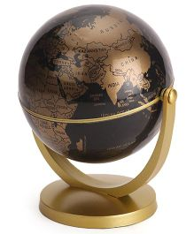 Globus Educational World Globe Golden Black- 4.5 ST