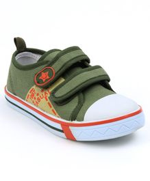 Cute Walk by Babyhug Canvas Casual Shoes - Olive Green