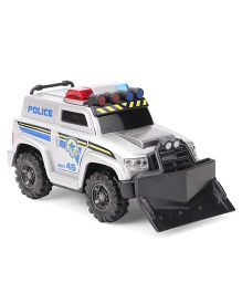 Dickie Freewheel Police Rescue Car - White & Black