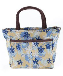 EZ Life Snowflake Print Carry Bag - Yellow