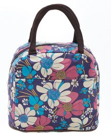 EZ Life Trendy Floral Print Lunch Box Bag - Blue
