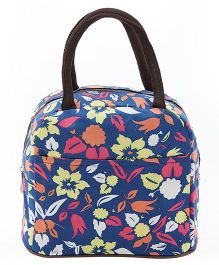 EZ Life Autumn Floral Print Lunch Boz Bag - Blue
