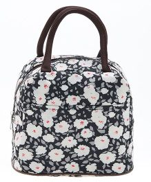 EZ Life Trendy Floral Print Lunch Box Bag - Black