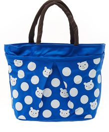 EZ Life Trendy Face Print Carry Bag - Blue