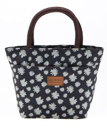 EZ Life Floral Print Trendy Carry Bag - Black