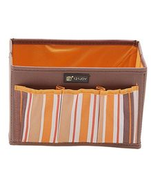 EZ Life Striped Storage Organizer - Orange