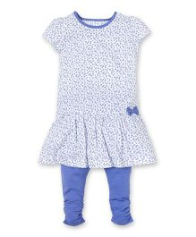 Mothercare Floral Jersey Dress And Leggings Set