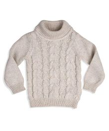 Mothercare Full Sleeves Knitted Sweater - Off White