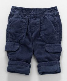 Mothercare Full Length Pull On Corduroy Pants - Blue