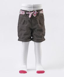 Mothercare Tweed Shorts With Cable Knit Stocking Tights - Grey White