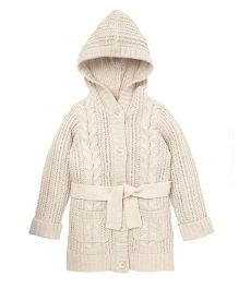 Mothercare Full Sleeves Coat Style Cardigan - Off White