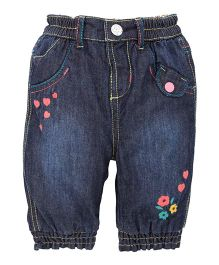 Mothercare Full Length Pull On Jeans - Blue