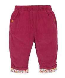Mothercare Full Length Pull On Corduroy Pants - Pink