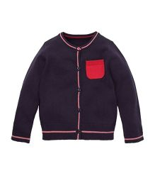 Mothercare Full Sleeves Cardigan - Navy Blue