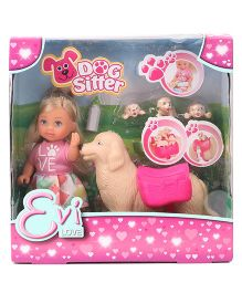 Evi Love Fashion Doll Puppies Sitter Pink - 12 cm