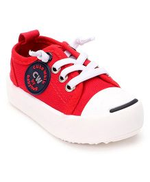 Cute Walk by Babyhug Canvas Casual Shoes - Red