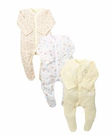 Mothercare Giraffe Sleepsuits - 3 Pack