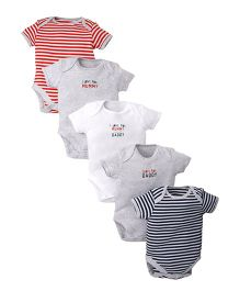 Mothercare Short Sleeves Onesies Pack Of 5 - Multicolor