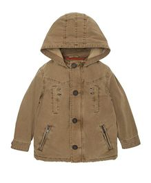 Mothercare Full Sleeves Lined Coat - Beige