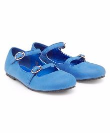 Mothercare Party Wear Belly Shoes - Sky Blue