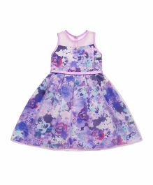 Mothercare Party Wear Sleeveless Frock With Belt - Purple Pink