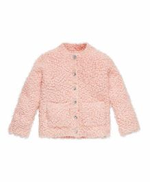 Mothercare Full Sleeves Popcorn Cardigan - Pink