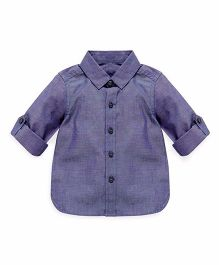 Mothercare Full Sleeves Solid Shirt - Blue